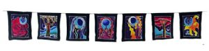 Bunting~Pagan Goddess Flags Earth Mother Bunting Wiccan Hippy Wall Hanging~Fair trade by Folio Gothic Hippy BA061